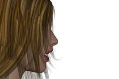 womans стороны иллюстрация вектора