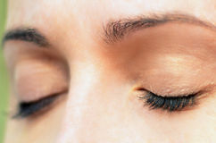 Womans Augen Stockfotografie