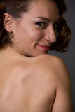 Womans bare back Royalty Free Stock Image