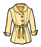 Womans Coat Cartoon Royalty Free Stock Photo