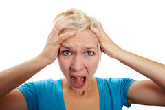 Womans cry Royalty Free Stock Photography