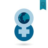Womans Day Icon Royalty Free Stock Photos