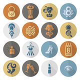 Womans Day Icon Set. Design Elements for International Womens Day March 8, Icons. Vector vector illustration