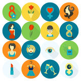 Womans Day Icon Set Royalty Free Stock Photo