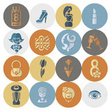 Womans Day Icon Set Royalty Free Stock Image