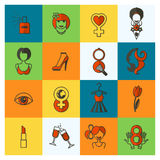 Womans Day Icon Set Royalty Free Stock Photos