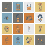 Womans Day Icon Set. Design Elements for International Womens Day March 8, Icons. Vector. Minimum Points vector illustration
