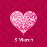 Womans day Vector cards templates. Women labels or posters. Woman's day Vector cards templates. Women's day cards labels or posters. Valentine's Day gift cards royalty free illustration