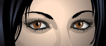Womans eyes Royalty Free Stock Photo