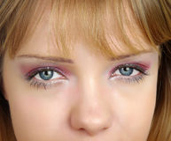 Womans eyes Royalty Free Stock Image