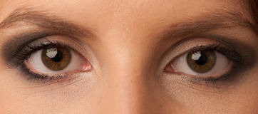 Womans eyes with beautiful makeup Stock Photos