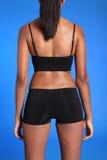 womans för torso för tillbaka huvuddel för afrikansk amerikan fit Arkivbild