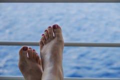 Womans Füße Lizenzfreie Stockbilder