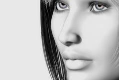 Womans face Stock Photos