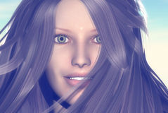 Womans face. 3D render of a womans face Royalty Free Stock Photos