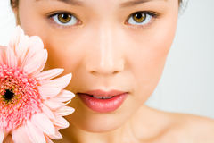 Woman�s face Stock Images