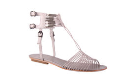 Womans fashion shoe on white Royalty Free Stock Photography