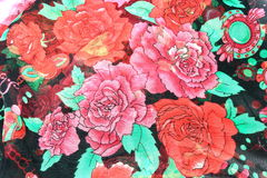 Womans floral scarf Royalty Free Stock Images