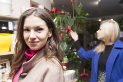 Womans in a flower shop Royalty Free Stock Image
