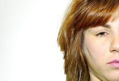 Womans Gesicht Stockfoto