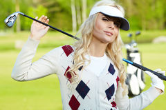 Womans golf Royalty Free Stock Image
