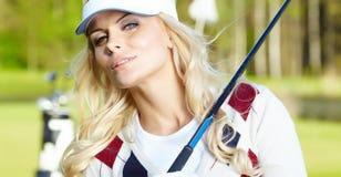 Womans golf Obraz Royalty Free