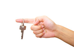 Womans hand with key Royalty Free Stock Image