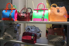 Italian bag fashion shop in Romania Royalty Free Stock Photography