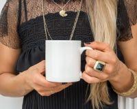 White Mug mockup - Styled Stock Royalty Free Stock Photography
