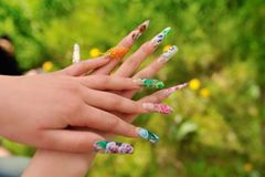 Womans hands with manicure Stock Photo