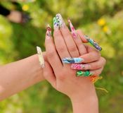 Womans hands with manicure Royalty Free Stock Photography