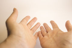 Womans hands self massage Royalty Free Stock Photo