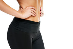 Womans hands on stomach Royalty Free Stock Photography