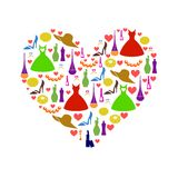 Womans heart Royalty Free Stock Image