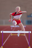 Womans Hurdles Royalty Free Stock Photo