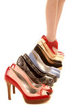 Womans legs in last shoes Stock Photography