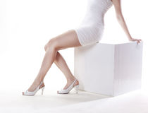 Woman's legs in shoes Royalty Free Stock Photos