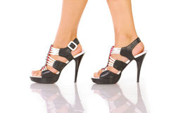 Womans legs with shoes Royalty Free Stock Photo