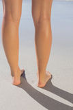 Womans legs standing on the sand Royalty Free Stock Photo