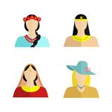 The  womans nationality Royalty Free Stock Images
