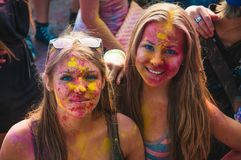 Free Womans Portrait On Holi Festive Stock Photos - 110404863