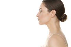 Womans Profile Stock Photo