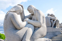 Womans sculpture at Frogner Park in Oslo Norway Royalty Free Stock Photos