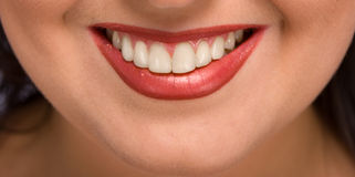Womans smile Stock Image