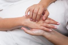 Womans in spa salon massage therapy and beauty treatments Royalty Free Stock Photo