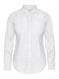 Womans white business shirt on invisible mannequin isolated on white Royalty Free Stock Photography