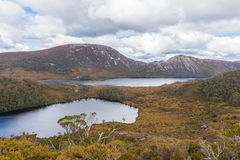 Wombat pool and Dove Lake in Cradle Mountain National Park, Tasm Royalty Free Stock Image
