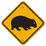 Wombat sign. The sign to warn you to beware the wombat for this area Stock Photography