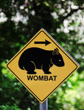 Wombat sign Royalty Free Stock Photos