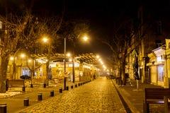 Women's市场在夜之前在索非亚,保加利亚 免版税库存图片